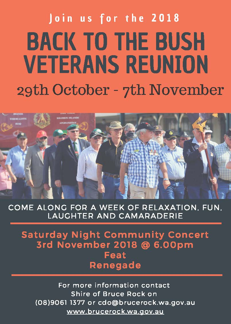 Back to the Bush Veterans Reunion