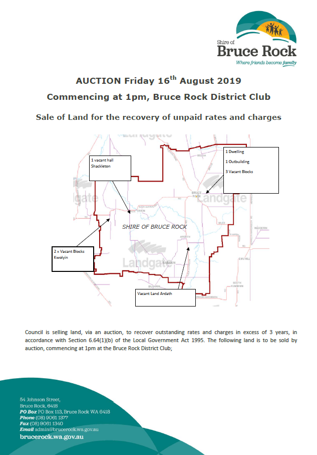 Auction for Sale of Land