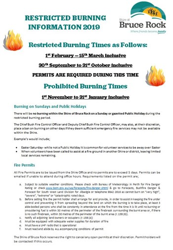 Restricted Burning Period